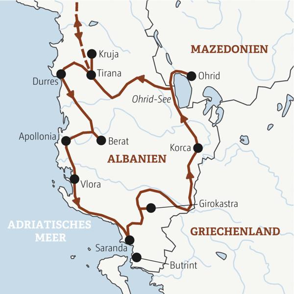 Albanien – Mazedonien Rundreisen junge Leute 2019