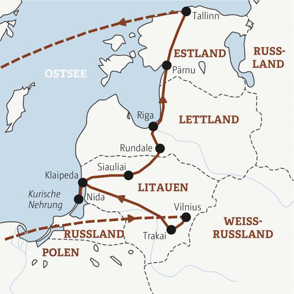 Baltikum Rundreisen junge Leute 2019