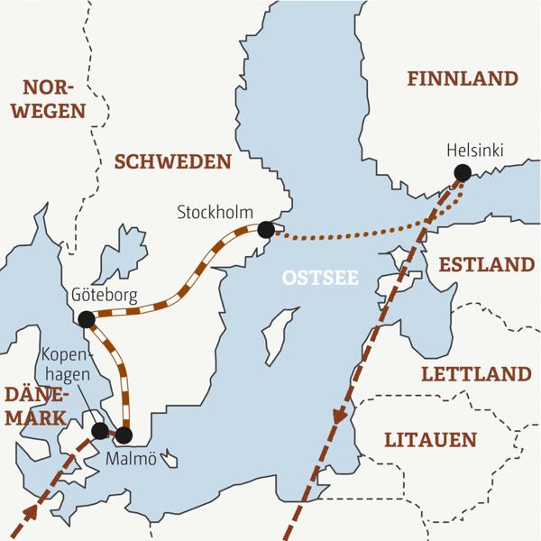 Dänemark-Schweden-Finnland Rundreisen junge Leute 2019