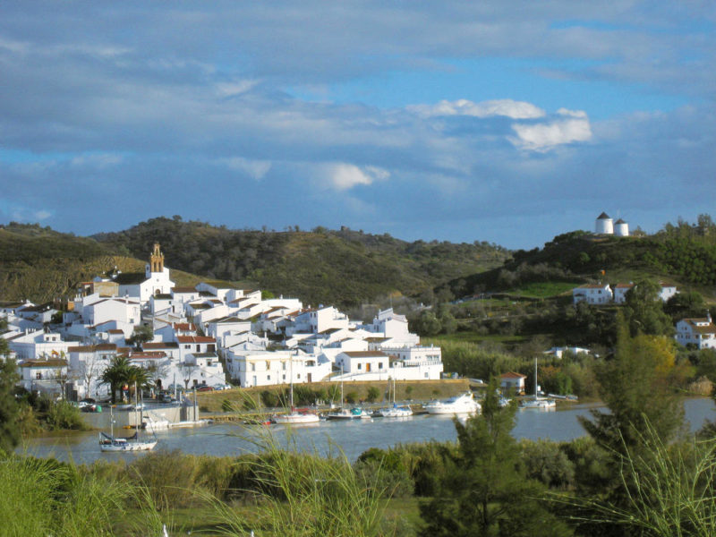 Blick von Alcoutim auf den Rio Guadiana und auf Sanlúcar del Guadiana - Cornelia Hempel