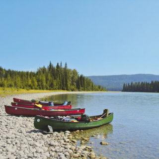 Kanuverlängerung Athabasca River Fluss Kanu Landschaft - Mike Kuhnert