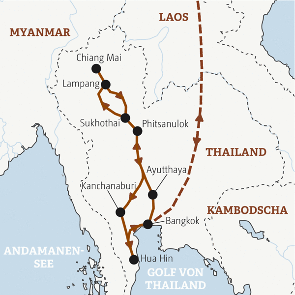 Thailand Rundreisen junge Leute 2019