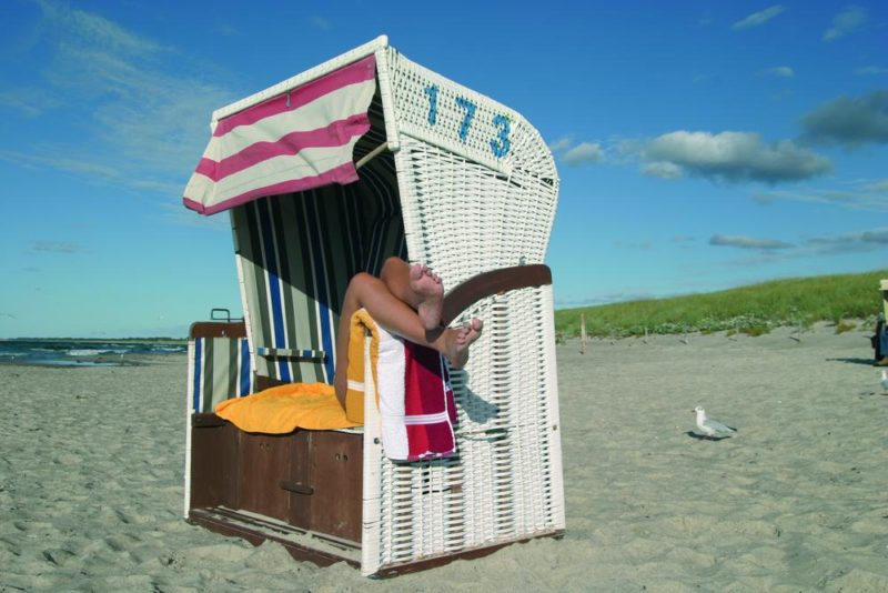 Strandkorb auf Fischland-Darß-Zingst - Ostseehotel Dierhagen