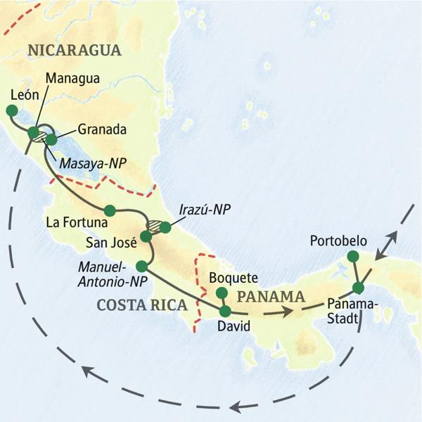 Costa Rica Karte Mittelamerika.Mittelamerika Studienreise 2019 Panama Nicaragua Costa Rica