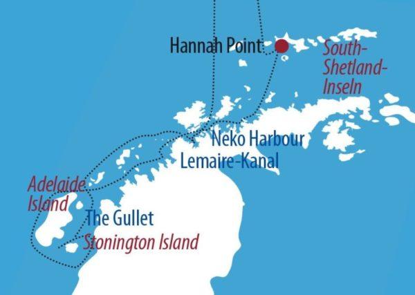 Antarktis Terra Incognita – Abenteuer am Polarkreis Paradiesbucht Karte