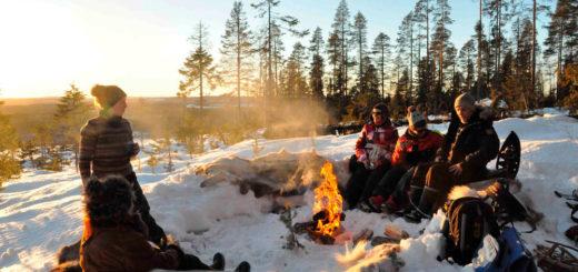 Pause beim Schneeschuhwandern - Johann Schatton