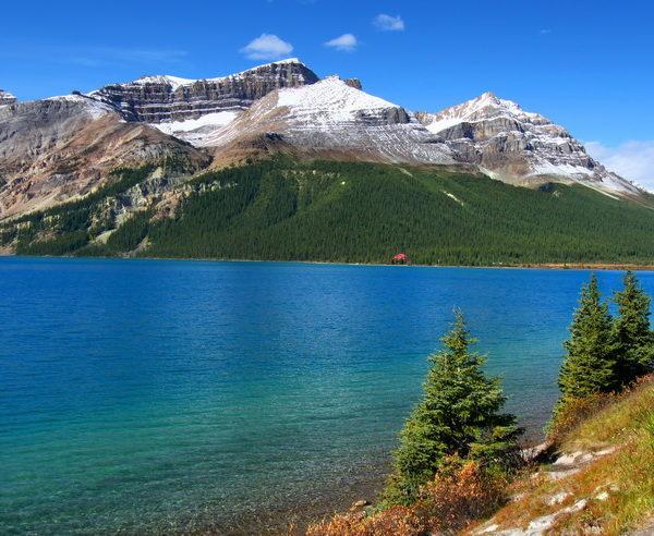 Malerischer Seeblick im Nationalpark Banff