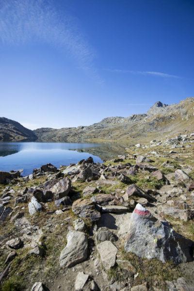 Langsee der Spronser Seen im Naturpark Texel in Südtirol - MGM/Alex Filz - nur in Verbindung mit Spronser Seen zu verwenden