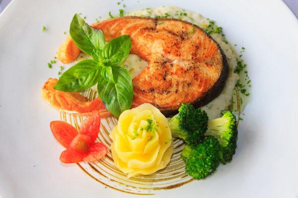 Esssen, Lebensmittel, Lachs, Dekoration, Menue
