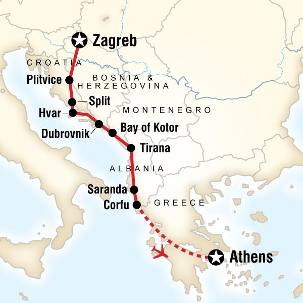 Kotor Montenegro Karte.Albanien Bosnien Herzegowina Griechenland Kroatien