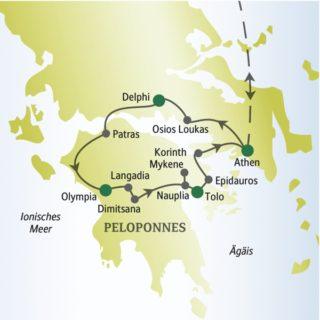 Entdecken Sie die Highlights Griechenlands mit anderen weltoffenen Singles und Alleinreisenden