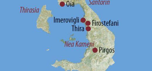 Karte Reise Griechenland Santorin – Im Herzen der Kykladen 2019