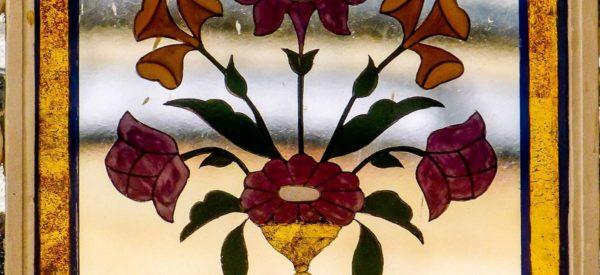Detail im Spiegelsaal im Amber Fort