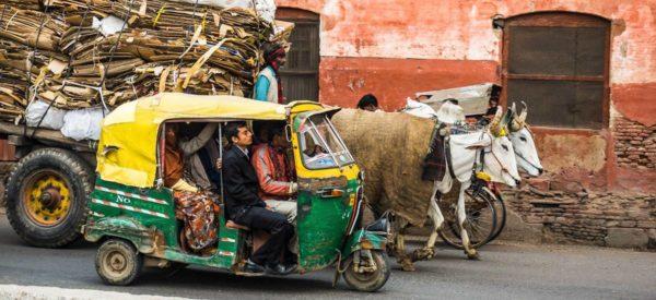 Strassenszene in Agra