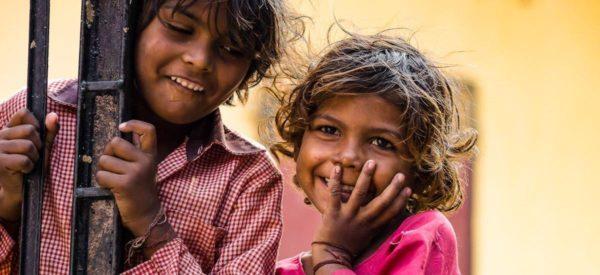 Kinder in Dehli