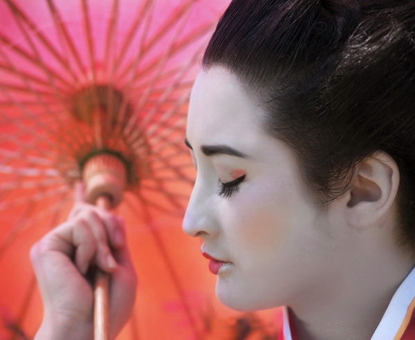Geisha im Kimono