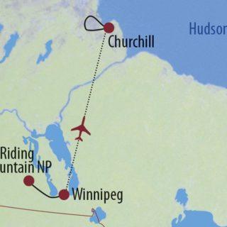 """Karte Reise Kanada   Manitoba Kanadas """"Big Five"""" der Tierwelt erleben 2019"""
