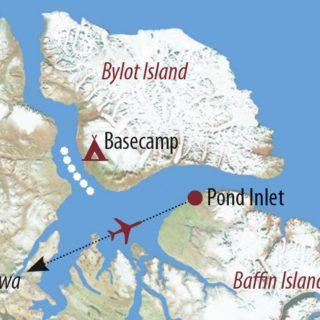 Karte Reise Kanada | Nunavut Expedition zur Eiskante 2019