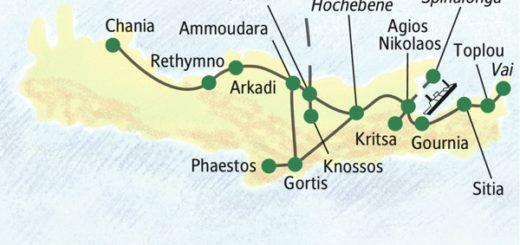 Erkundung der bekanntesten Sehenswürdigkeiten Kretas von nur zwei Standorten aus
