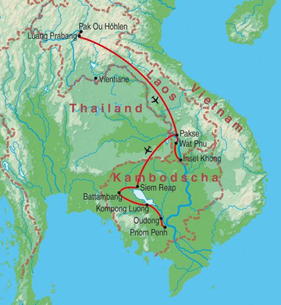 Highlights in Laos & Kambodscha