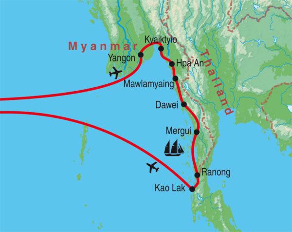 Geheimnsivolles Süd-Myanmar