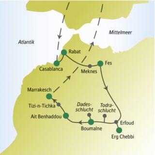 In einer Gruppe mit anderen weltoffenen Singles und Alleinreisenden Marokko in 13 Tagen erleben