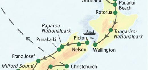Die Höhepunkte der Nord- und Südinsel