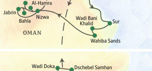 Mit Aufenthalt im Weihrauchland Dhofar im Süden des Omans