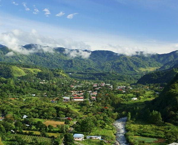 Blick auf die Stadt Boquete