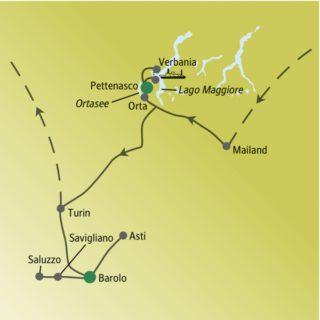 Acht Tage schlemmen und genießen im Piemont mit anderen weltoffenen Singles und Alleinreisenden
