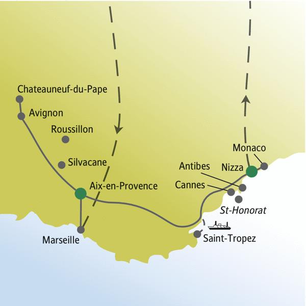 Provence & Cote d'Azur Rundreisen für Alleinreisende 2019/2020