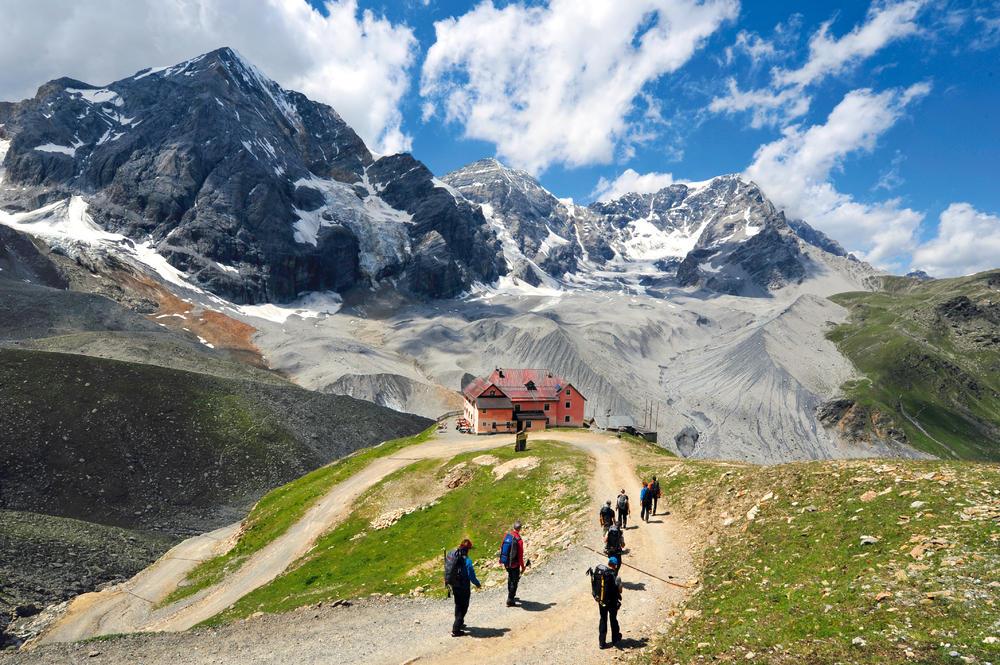 Auf dem Weg zur Schaubachhütte - Darek Wylezol