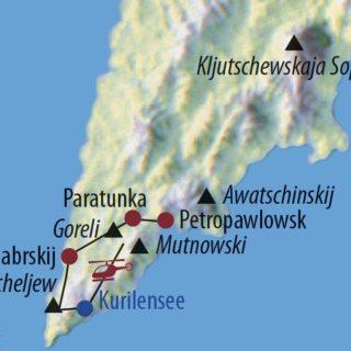 Karte Reise Russland – Kamtschatka Im Feuerreich des Bären 2019