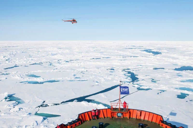 Erkundung der Eiswüste mit Helikopter