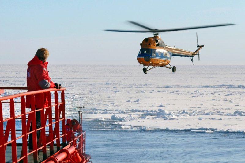 Helikopter ermöglichen spektakuläre Fotos