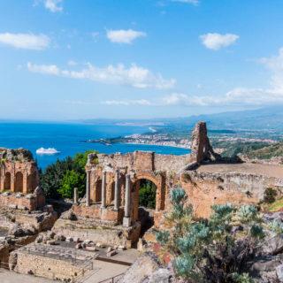 Am griechischen Theater in Taormina - Andrea Kampmann