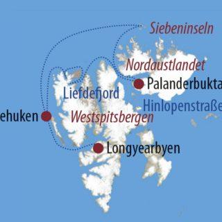 Karte Reise Spitzbergen Die exklusive Fotoreise an Bord der M/S Malmö 2019
