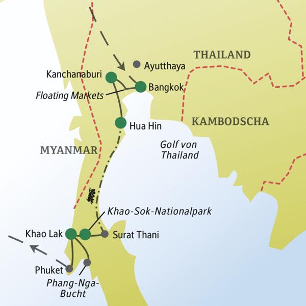 Thailand Rundreisen für Alleinreisende 2019/2020
