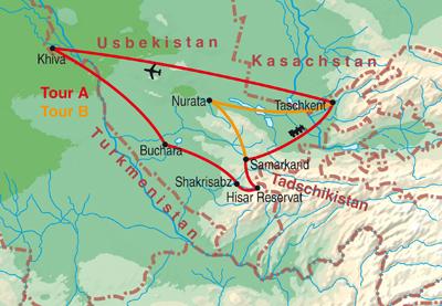Kirgisistan & Usbekistan - Vom Tienshan nach Tashkent