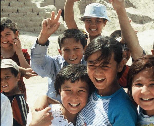 Schüler in Usbekistan
