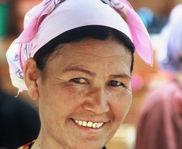 Usbekische Marktfrau