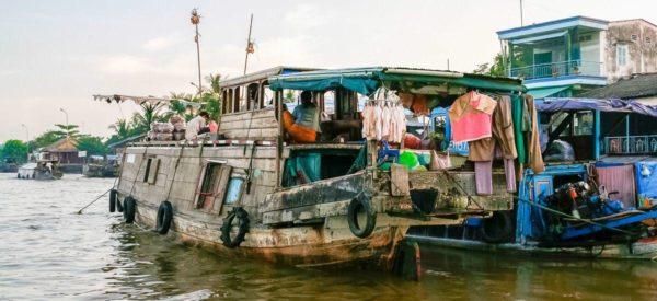 Geschäftiges Treiben in Binh Hoa Phuoc im Mekong-Delta