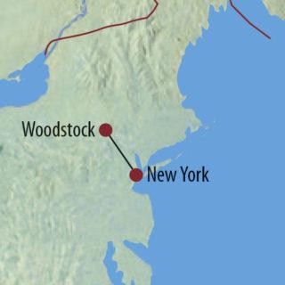 Karte Reise USA   New York 50 Jahre nach Woodstock 2019
