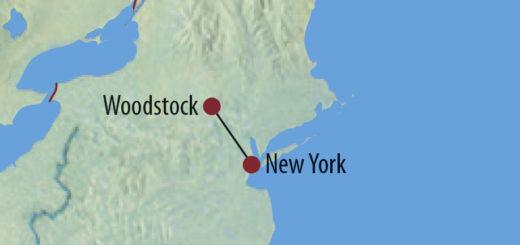 Karte Reise USA | New York 50 Jahre nach Woodstock 2019