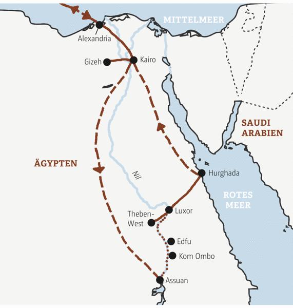 Nilkreuzfahrt von Assuan nach Luxor