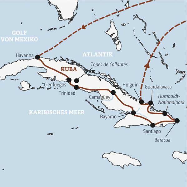 Kuba Karte Rundreise.Kuba Reisen Kuba Rundreisen Kleingruppenreisen Tinta