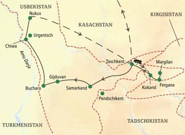 Usbekistan Karte.Usbekistan Reisen Usbekistan Rundreisen Kleingruppenreisen Tinta