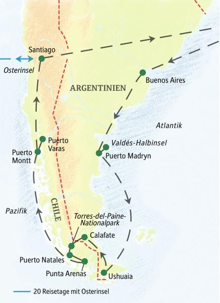 In zwei Wochen alle landschaftlichen Höhepunkte Patagoniens