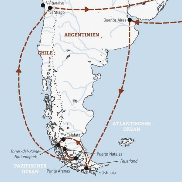 Rundreise zu den Höhepunkten Patagoniens