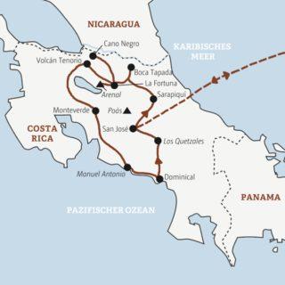 Ausführliche Rundreise zu den Highlights von Costa Rica